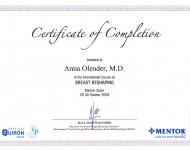 korekcja biustu zaswiadczenie Dr Olender