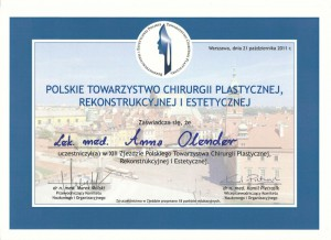 Polskie Towarzystawo Chirurgii Estetycznej - XIII zjazd