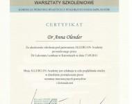 warszaty szkoleniowe chirurgia piersi zaświadczenie dla d Olender